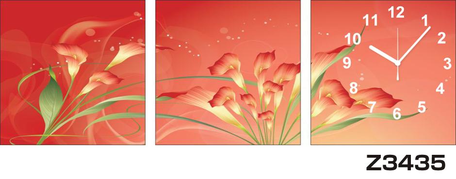 日本初!300種類以上のデザインから選ぶパネルクロック◆3枚のアートパネルの壁掛け時計◆hOur DesignZ3435【アート】【花】【代引不可】 送料無料 新生活 引越