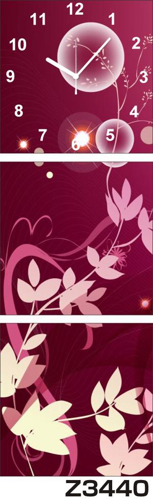 日本初!300種類以上のデザインから選ぶパネルクロック◆3枚のアートパネルの壁掛け時計◆hOur DesignZ3440【アート】【花】【代引不可】 送料無料 新生活 引越