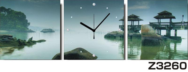 日本初!300種類以上のデザインから選ぶパネルクロック◆3枚のアートパネルの壁掛け時計◆hOur DesignZ3260【アート】【風景】【代引不可】 送料無料 新生活 引越