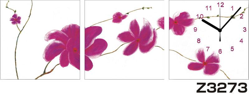 日本初!300種類以上のデザインから選ぶパネルクロック◆3枚のアートパネルの壁掛け時計◆hOur DesignZ3273【花】【代引不可】 送料無料 新生活 引越