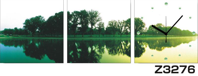 日本初!300種類以上のデザインから選ぶパネルクロック◆3枚のアートパネルの壁掛け時計◆hOur DesignZ3276【アート】【風景】【自然】【代引不可】 送料無料 新生活 引越