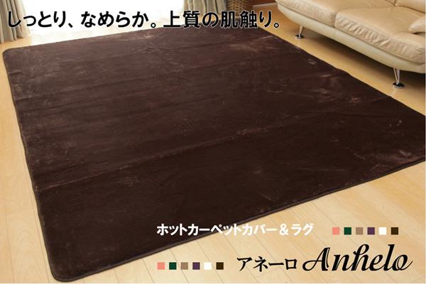 ラグ カーペット 3畳 無地 扁平糸 約200×250cm(ホットカーペット対応)  フロアマット ホットカーペットカバー リビングマット 保温 防音 保温 防音
