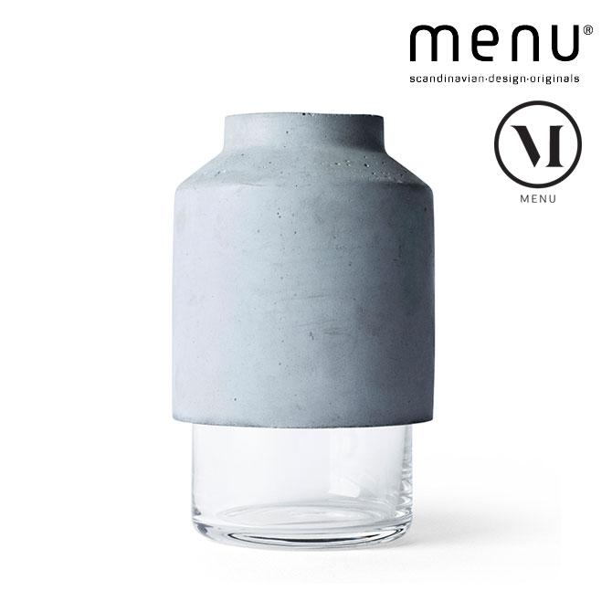 北欧雑貨 menu ウィルマンベース 花瓶 フラワーベース ガラス コンクリート ハンドメイド シンプル モノトーン スカンジナビアデザイン 北欧デザイン