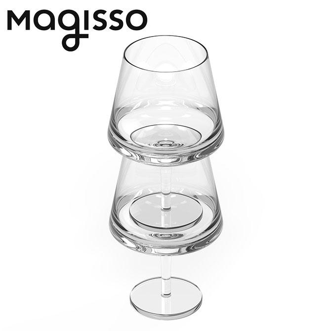 北欧デザイン雑貨 magisso ピノ・ワイングラス ペアグラス 2個セット muurla ムールラ ハンドブロウン 無鉛ガラス フィンランド製 スタッキング シンプル 北欧デザイン