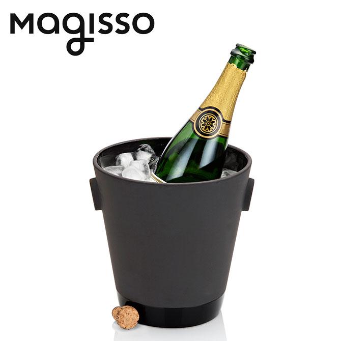 北欧デザイン雑貨 magisso シャンパンクーラー テラコッタバーウェア シャンパングッズ シャンパン用品 冷却機能 陶磁器 セラミック ブラック キッチンインテリア シンプル 北欧デザイン