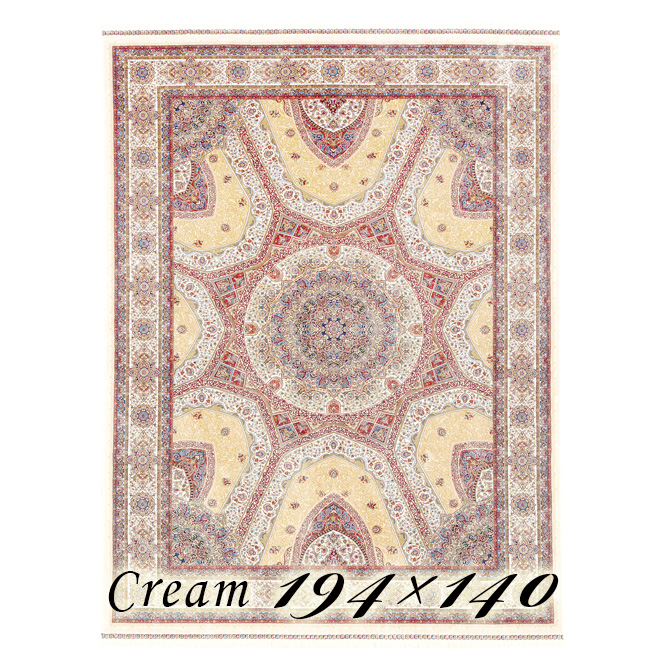 ラグ カーペット ネリエ 194×140cm N1クリーム ベルギー製 ウィルトン織 フレンジ(房)つき 高級 絨毯 厚手 【送料無料】【代引不可】