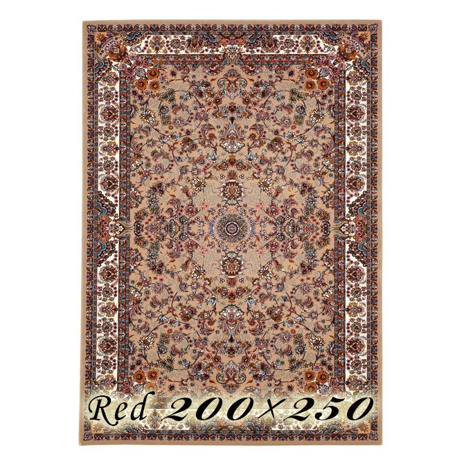 ラグ カーペット ガット 200×250cm レッド イラン製 ウィルトン織 高級 絨毯 厚手 【送料無料】【代引不可】