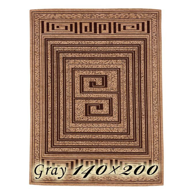 ラグ カーペット モイラ 140×200cm グレー イタリア製 ゴブラン織 高級 絨毯 厚手 【送料無料】【代引不可】