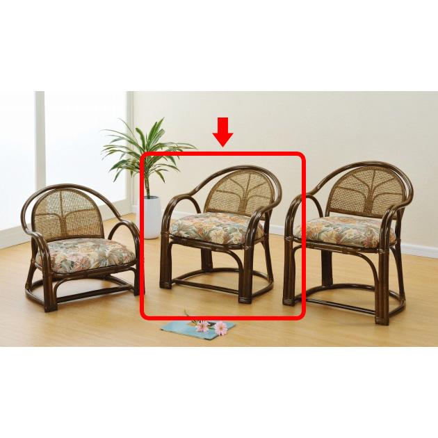 膝や腰が軽くても立ち座りがラク名座椅子 アームチェアーハイ1脚売 イス・チェア 籐製 最安値に挑戦 新生活 引越