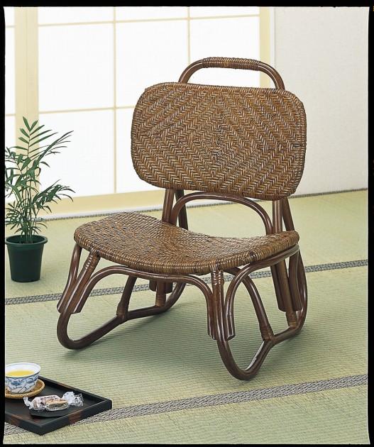 座椅子 座面・背もたれ部ともに熟練した職人による手造り総アジロ編みで天然素材独特の感触を味わえる座椅子です。 籐アジロ編み楽々座椅子 イス・チェア 籐製 送料無料 敬老の日 母の日 父の日 ギフト プレゼント 座椅子 座いす 座イス チェア チェアー