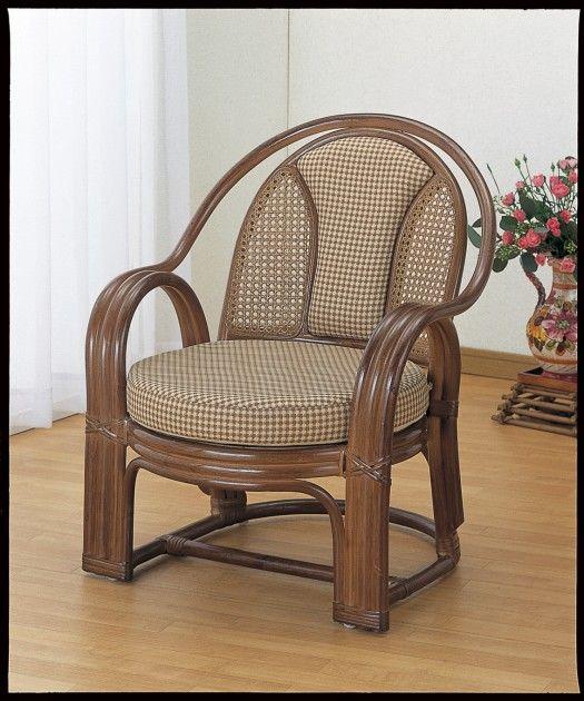 座椅子 背もたれ部はしっかりサポート。 アームチェアー イス・チェア 座椅子 籐製 送料無料 座椅子 座イス 座いす 椅子 いす イス チェア チェアー 姿勢 腰痛 コンパクト 北欧 シンプル クッション 座布団 リラックスチェアー リビング 一人掛け 1人掛け