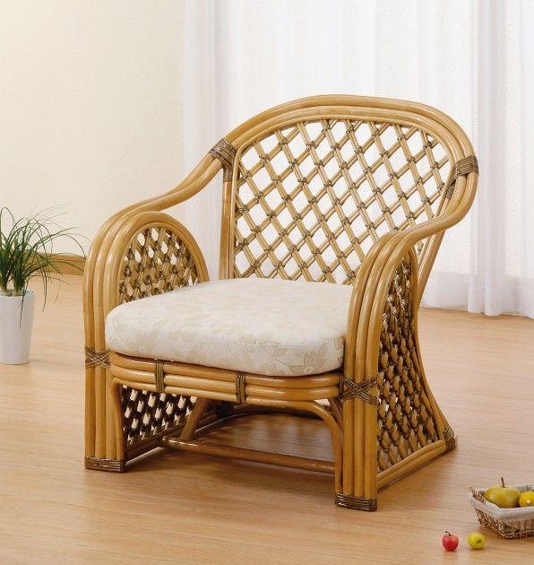 天然素材のやさしさを感じて アームチェアー イス・チェア 座椅子 籐製 送料無料 最安値に挑戦 新生活 引越