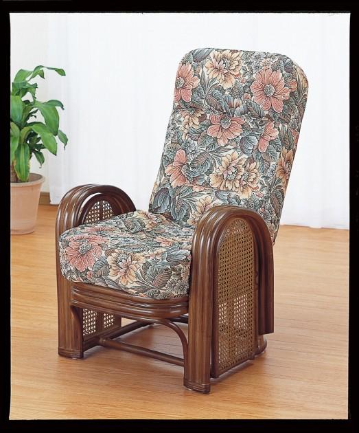 座椅子 背もたれハイバックとふかふかクッションが最上の座り心地を実現 籐デラックスリクライニングアームチェアー イス・チェア 座椅子 籐製 送料無料 敬老の日 母の日 父の日 ギフト プレゼント 座椅子 座いす 座イス チェア チェアー フロアチェア フロアチェアー
