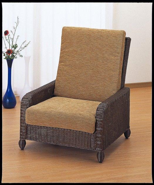 ヨーロピアン&アジアンテイストが融合したラタン製ハイパックチェアーです。 アームチェアー イス・チェア 座椅子 籐製 送料無料 最安値に挑戦 新生活 引越