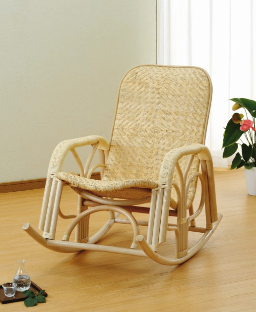 座椅子 思わずお昼寝してしまいそうな癒し系チェアー! ロッキングチェアー イス・チェア 座椅子 籐製 送料無料 座椅子 座イス 座いす 椅子 いす イス チェア チェアー 姿勢 腰痛 コンパクト 北欧 シンプル クッション 座布団 リラックスチェアー リビング 一人掛け 1人掛け