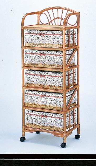 部屋を選ばない、シンプルなデザイン ランドリー5段 収納家具 ランドリーチェスト ランドリーラック 籐製 ラタン 送料無料 最安値に挑戦 新生活 引越