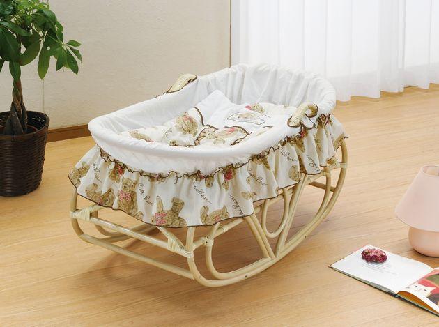 ゆりかご ヨーラン ベビーベッド 揺りかご 軽くて持ち運べるヨーランで、赤ちゃんはいつもママのそばに 藤ヨーラン 布団セット付 籐製 ラタン 送料無料 最安値に挑戦 新生活 引越