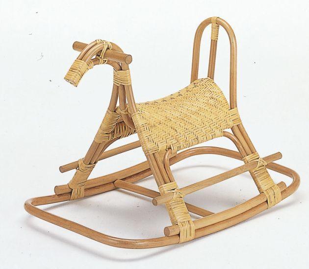 天然素材で作った馬で遊ぶ楽しさ 全国どこでも送料無料 藤ロッキング子供馬 籐製 入荷予定 ラタン