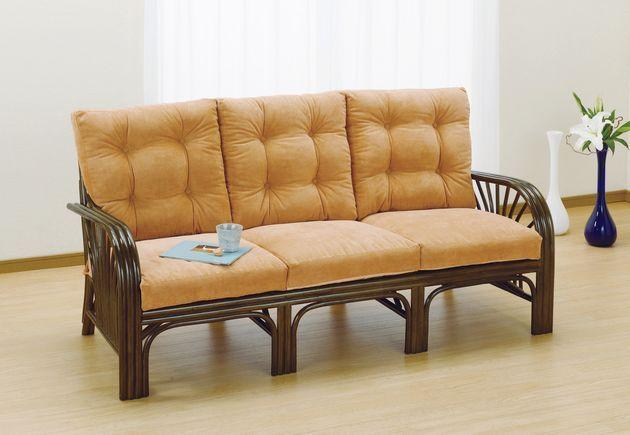 暮らしをぬくもりで満たすラタンのナチュラルな存在感。 3Pラブソファー イス・チェア 座椅子 籐製 送料無料 最安値に挑戦 新生活 引越 売れ筋