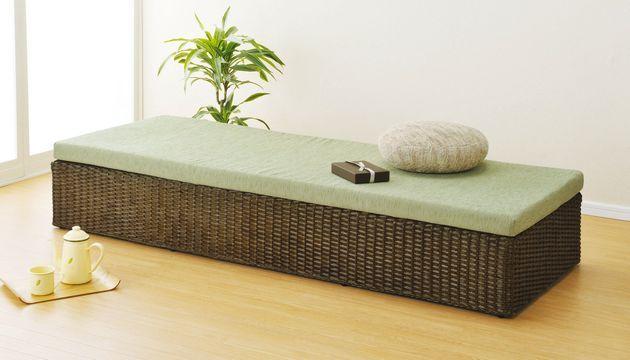 空間を高級感溢れるモダンな印象に演出!ラタンベンチやソファーとして、またはパーソナルベッドとしても。 籐ベッド&ベンチ イス・チェア 座椅子 籐製 送料無料 最安値に挑戦 新生活 引越