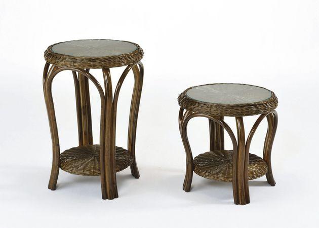軽くて丈夫天然素材のやさしいぬくもり 籐テーブル・ロータイプ 籐製 ラタン