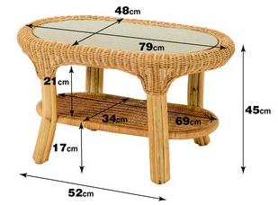 【送料無料】ウィッカー編みのラタンテーブル センターテーブル