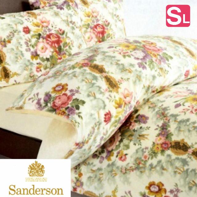 サンダーソン あったか掛カバー シングル 西川産業 Sanderson 綿100% 掛けふとんカバー (SD001)