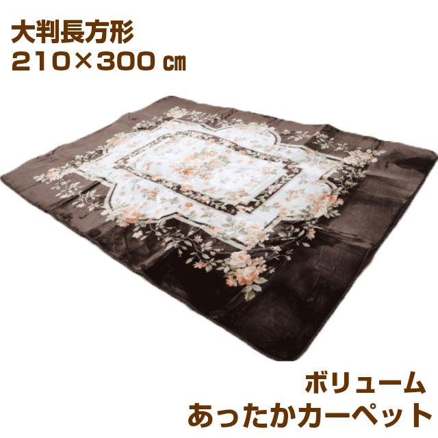 大判長方形 210×300cm あったか 柔らか カーペット ラグ 特大(30000)