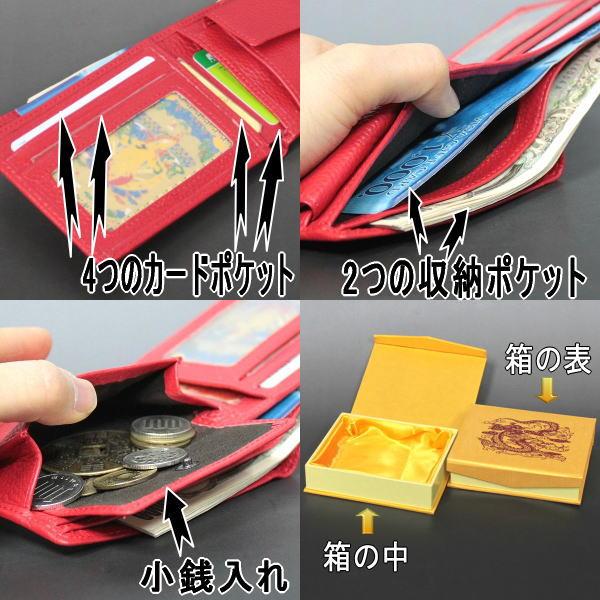 风水钱包 '龙' (双面) (红色) [风水玩具 / 财富 / 祝你好运]