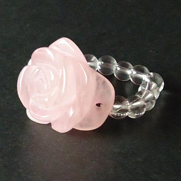Fuusuikazan Feng Shui Goods Rose Carving Ring Rose Quartz