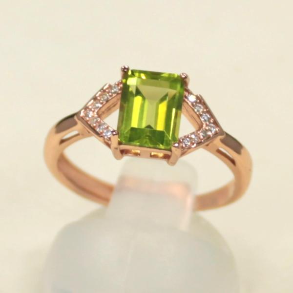 パワーストーン カラーストーン ペリドット リング 指輪 サイズ 16号 天然石 ペリドットリング ゆびわ 夫婦 幸福 開運祈願 風水 2020