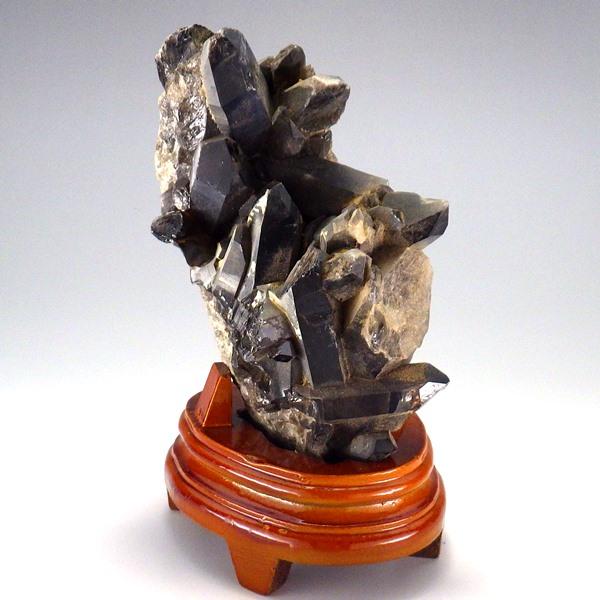 風水グッズ モリオン 黒水晶 原石 1200g 台付 占い 風水 石 天然石 原石 パワーストーン クラスター 風水 2020お買い物マラソン 5月 送料無料 あす楽対応 即日発送 翌日配達