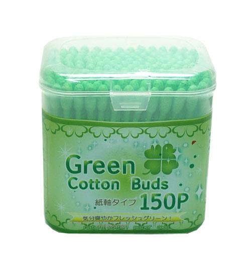 癒しのグリーン綿棒 正規逆輸入品 石田工業 グリーン紙軸綿棒150P 専門店