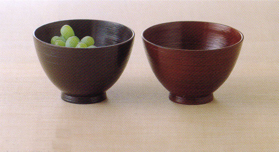 Natural wooden mark of brushing bowl wooden bowl pair (juice porcelain bowl, porcelain bowl)
