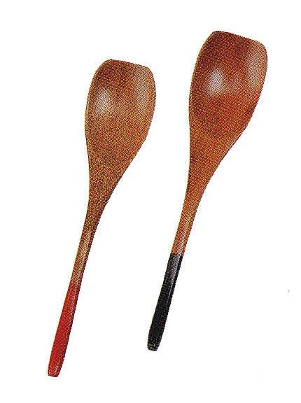 天然木製うるし塗 おしゃれ 引出物 かわいい 木製 塗分 デザートスプーン 好評受付中 赤 和食器 黒 和菓子 ヨウカン用に最適 お子様用にも最適