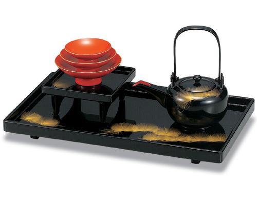 越前漆器 木製 屠蘇器 セット 黒塗 平安松 沈金 松 越前塗り 漆塗 高級 漆器 送料無料