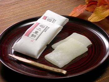 福井は絹織物の町 明治から昭和初期まで輸出生産 人気海外一番 日本一でした 中でも最上級とされた羽二重の薄く滑らかな肌触りを 名実共に :村中甘泉堂 に活かしました 羽二重餅 日本正規品 12包入×2個 絹のようにきめ細やかで柔かな餅菓子