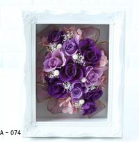 Pinky Rosey:枯れない魔法のお花に心をこめて「フレームローズBOX(Mサイズ) オプション:A-074~076」