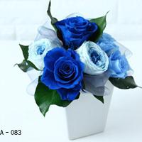 Pinky Rosey:枯れない魔法のお花に心をこめて「スクエアローズアレンジ(L) オプション:A-083~085」