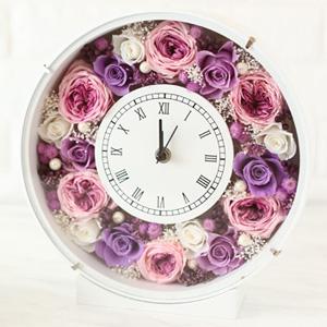 Pinky Rosey:枯れない魔法のお花に心をこめて「花時計 A-096」