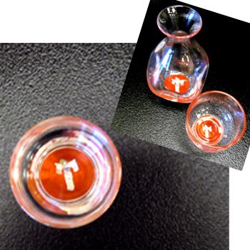 天野漆器:徳利1個・杯2個セット おわら(貝入)朱/黒 ※色をお選びください。