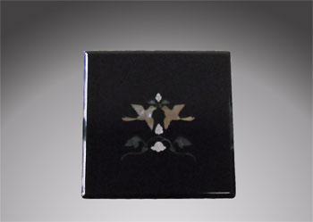 天野漆器:小箱 鳳凰 貝入(黒)