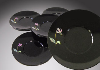 天野漆器:茶托 かたかご 貝入(5枚組)