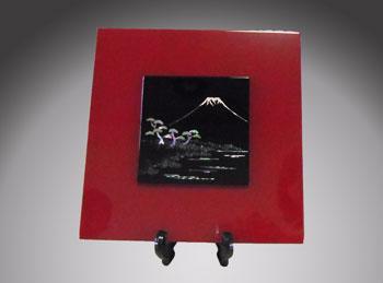 天野漆器:パネル 三保の松原