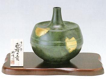 織田幸銅器:花瓶「飛躍の壺」/開町400年伝統高岡銅器