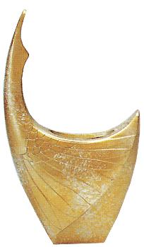 織田幸銅器:花瓶「若鶴」パール/開町400年伝統高岡銅器