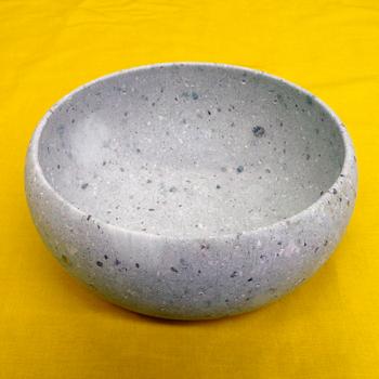 福井の宝石 ふくいブルー「ミニ水盤 丸型平底 070」大変貴重な笏谷石で創られた器