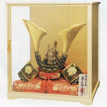 特選 玉竜獅子星兜(M110号木製ガラスケース、座布団、木札付き)