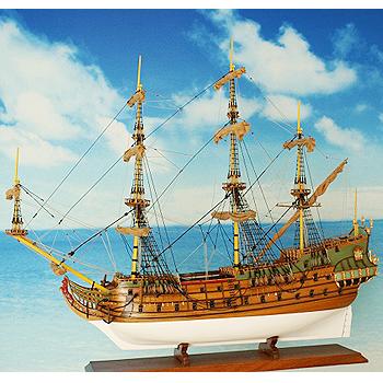 【送料無料】帆船模型 夢住緑「フリースランド」(代金引換はご利用できません)