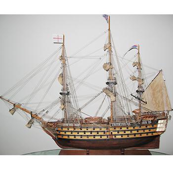 【送料無料】帆船模型 夢住緑「ヴィクトリー(L)」(完成品)(代金引換はご利用できません)